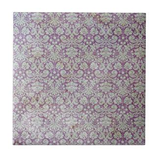 Modelo púrpura apenado del papel pintado azulejo cuadrado pequeño