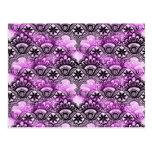 Modelo púrpura apenado vibrante fresco del damasco postal