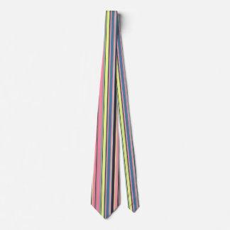 Modelo púrpura azul amarillo rosado de la raya corbata personalizada
