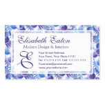 Modelo púrpura azul bonito retro del metro del art tarjetas de visita