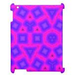 Modelo púrpura azul del cuadrado y del triángulo