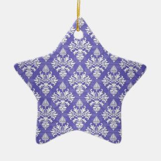 Modelo púrpura azul del damasco de la alcachofa de adorno de navidad