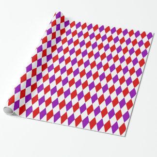 Modelo púrpura blanco rojo del diamante del