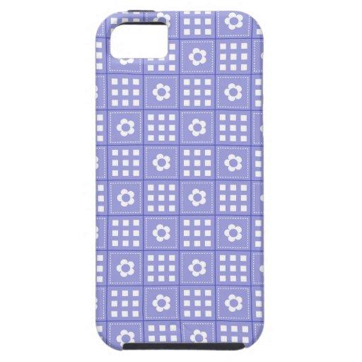 Modelo púrpura bonito del edredón de remiendo de l iPhone 5 Case-Mate cárcasas