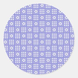Modelo púrpura bonito del edredón de remiendo de pegatina redonda