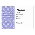 Modelo púrpura bonito del edredón de remiendo de tarjetas de visita grandes