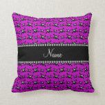 Modelo púrpura brillante conocido personalizado de cojin