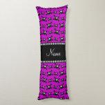 Modelo púrpura brillante conocido personalizado de almohada larga