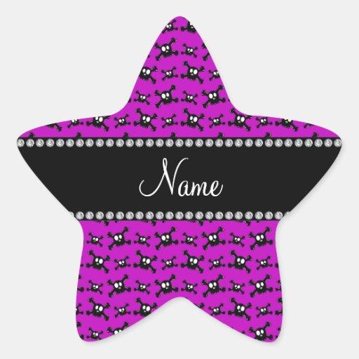 Modelo púrpura brillante conocido personalizado de pegatina en forma de estrella