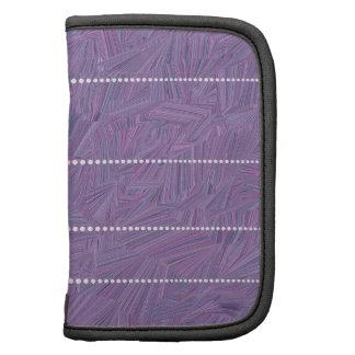 Modelo púrpura con las líneas de puntos del blanco organizador