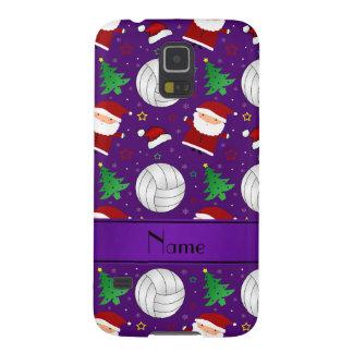 Modelo púrpura conocido de encargo del navidad del carcasas para galaxy s5