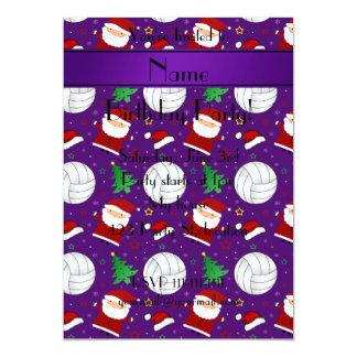 """Modelo púrpura conocido de encargo del navidad del invitación 5"""" x 7"""""""