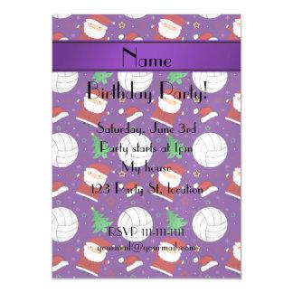 Modelo púrpura conocido de encargo del navidad del invitaciones magnéticas