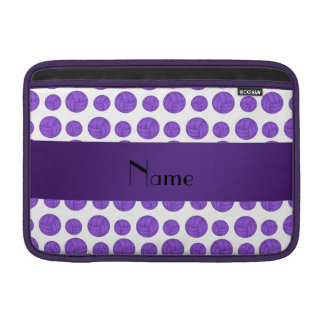 Modelo púrpura conocido de encargo del voleibol funda  MacBook