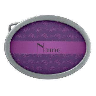 Modelo púrpura conocido personalizado de la bicicl hebillas cinturon ovales
