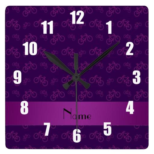 Modelo púrpura conocido personalizado de la bicicl relojes