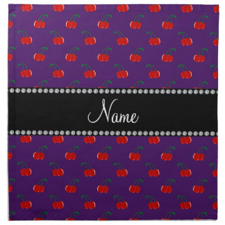 Modelo púrpura conocido personalizado de la cereza servilletas de papel