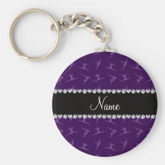 Modelo púrpura conocido personalizado de la gimnas llavero