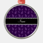 Modelo púrpura conocido personalizado de la piña adorno de navidad