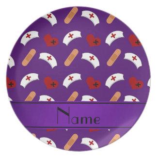 Modelo púrpura conocido personalizado de la plato para fiesta