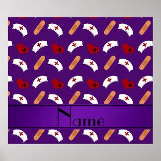 Modelo púrpura conocido personalizado de la póster