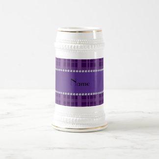 Modelo púrpura conocido personalizado de la tela e taza
