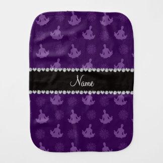 Modelo púrpura conocido personalizado de la yoga paños de bebé
