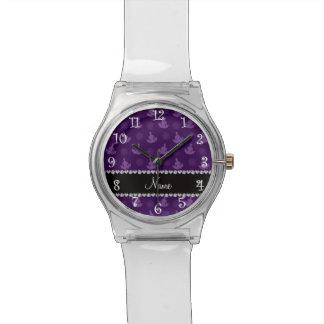 Modelo púrpura conocido personalizado de la yoga relojes de mano