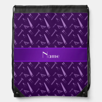 Modelo púrpura conocido personalizado de las mochilas