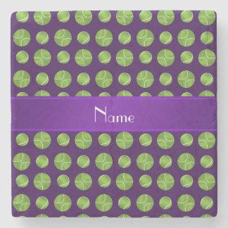 Modelo púrpura conocido personalizado de las posavasos de piedra