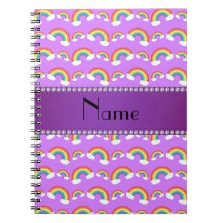Modelo púrpura conocido personalizado de los arco libreta espiral