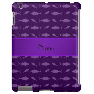 Modelo púrpura conocido personalizado del atún de funda para iPad