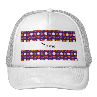 Modelo púrpura conocido personalizado del béisbol gorras
