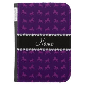Modelo púrpura conocido personalizado del caballo