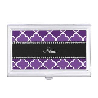 Modelo púrpura conocido personalizado del caja de tarjetas de negocios