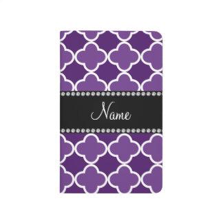 Modelo púrpura conocido personalizado del cuadernos grapados
