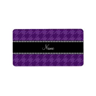 Modelo púrpura conocido personalizado del etiqueta de dirección