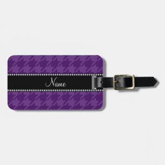 Modelo púrpura conocido personalizado del etiquetas de maletas
