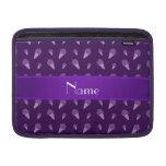 Modelo púrpura conocido personalizado del helado fundas macbook air