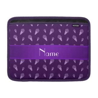 Modelo púrpura conocido personalizado del helado funda para macbook air