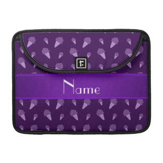 Modelo púrpura conocido personalizado del helado funda macbook pro