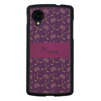 Modelo púrpura conocido personalizado del hockey funda de nexus 5 carved® slim de arce