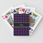 Modelo púrpura conocido personalizado del houndsto barajas de cartas