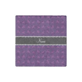 Modelo púrpura conocido personalizado del imán de piedra