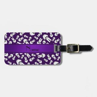 Modelo púrpura conocido personalizado del karate etiqueta para equipaje
