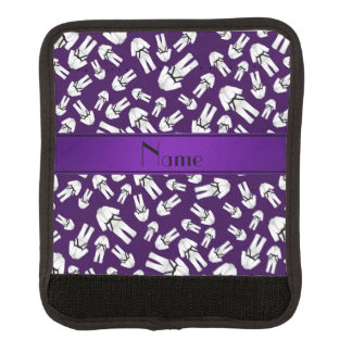 Modelo púrpura conocido personalizado del karate funda para asa de maleta