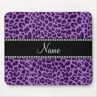 Modelo púrpura conocido personalizado del leopardo tapetes de ratones