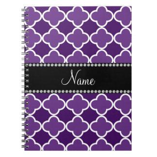 Modelo púrpura conocido personalizado del libros de apuntes