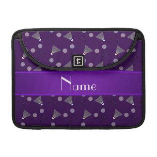 Modelo púrpura conocido personalizado del fundas para macbook pro