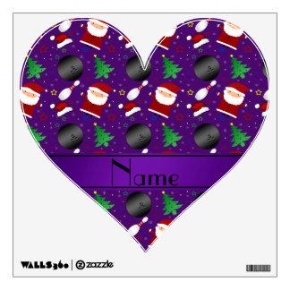 Modelo púrpura conocido personalizado del navidad